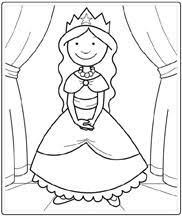Princess clipart coloring page 11