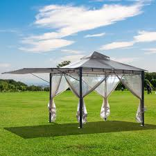 Outsunny Deluxe 10'x10' Gazebo Canopy Outdoor Party Tent Sun ... 25m X 2m Awning Mosquito Net 4wd Outbaxcamping Patio Ideas Gazebo With Screen House Gazebos Backyard Canopy Arb Vehicle 2500 8ft Overland Equipped Outsunny Deluxe X10 Outdoor Party Tent Sun Diy Car Side Toys Led Mozzie Xm Roomsmosquito Nets Toyota 4runner Forum Largest Netting Tepui Tents Roof Top For Cars And Trucks 3m