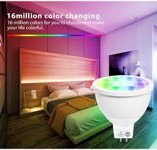 intelligente birne mr16 gu5 3 led bulb 4w zigbee wireless smart bulb dc 12v rgb cct dimmable colour floodlight compatible with hu echo plus app