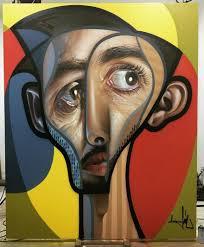 spanish artist creates picasso inspired murals combining cubism