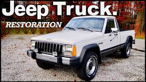 100 Truck Restoration Parts 1987 Jeep Project PART 1 Front End YouTube