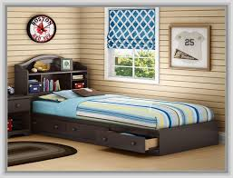 Aerobed With Headboard Twin by Storage Headboard Twin Bed Cherry With Bookcase And Trundle 2