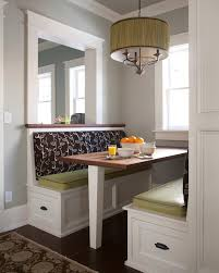 Kitchen Booth Seating Dining Room Transitional With Alcove Area Rugs Banquette Image By Company Kd Llc