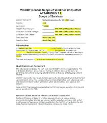 Scope Of Services Agreement Template Ready To Use Consultant Simple Consulting Sample