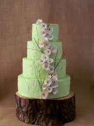 Image Of Rustic Wedding Cake Stand