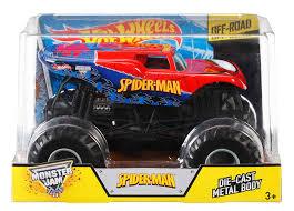 100 Spiderman Monster Truck Amazoncom Hot Wheels Jam 124 DieCast SpiderMan Vehicle