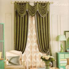 Curtain Ideas For Living Room by Dark Green Living Room Curtain Ideas Chenille No Valance