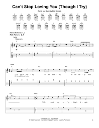 Download Cant Stop Loving You Though I Try Sheet Music By Leo