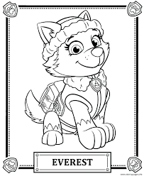 Paw Patrol Coloring Pages As Well Chase Sky