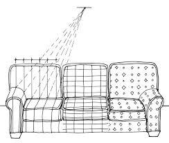 Drawn Sofa Sketch 1