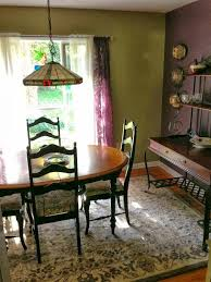 My Swanky New Dining Room I Got The Area Rug And Plum Sheers At Target
