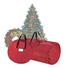 Tiny Tim Totes 83 DT5529 5086 Premium Red Canvas Christmas Tree Storage 30quot Inch