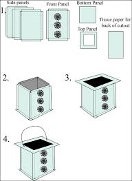 Square Party Lantern Instructions