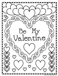Marvelous Kids Valentines Coloring Pages Castle