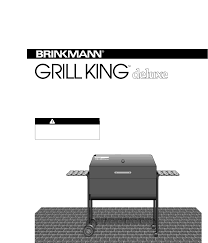 Brinkmann Electric Patio Grill Manual by Brinkmann Charcoal Grill Grill King Deluxe Heavy Duty Outdoor
