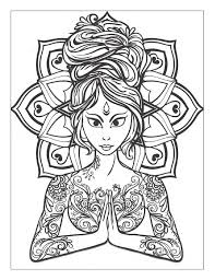 Yoga And Meditation Coloring Book For Adults With Poses Mandalas