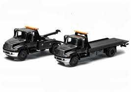 2014 International Durastar 4400 Flatbed Tow Trucks Set Of 2 Black ... Kenworth Trucks Chevrolet Silverado Ctennial Edition Diecast Scale Model Custom 150 Scale Diecast Garbage Truck Model With Working Lights Buffalo Road Imports Faun K20 Dump Yellow Dump Trucks Diecast Model Diecast Tufftrucks Australia Devon Mcintosh Plant Haulage Oxford Truck 176 Quick Cacola 443012 Led Christmas Light Up Red Amazoncouk Semi Toys Best Resource Cooee Classics 164 187 And Ho Models Of 1952 Coe Pickup Redblack Wheels 1 24