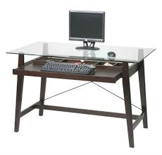 glass top computer desk with keyboard tray small black desk office