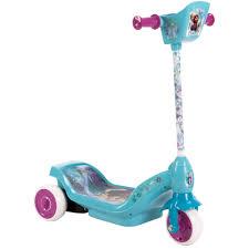 Huffy Disney Frozen 6V Dual Power 3 Wheel Scooter