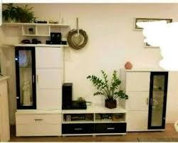 wohnzimmer wohnwand schwarz weiß