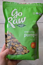 Go Raw Sprouted Pumpkin Seeds Bar by Meals And Snacks Lately Clean Eating Veggie
