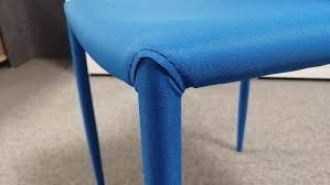 stuhl piana küchenstuhl esszimmerstuhl 4 er set stoff blau