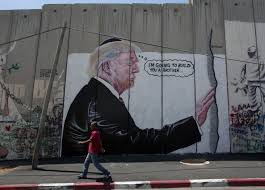 Big Ang Mural 2016 by 2 Huge Trump Murals Appear On West Bank Barrier