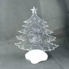 White Christmas Tree With Led Lights 4 Foot Colored Vector Warm