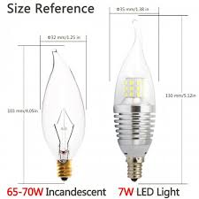 pack led candelabra bulb 4000k natutral daylight color afternoon