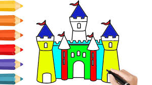 Coloring Pages Disney Castle Drawing For Children