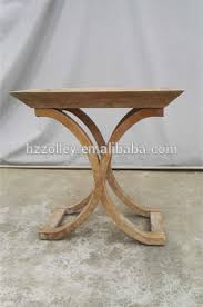 Home Designs Wooden X Legs Mdf Top Dining Room Furniture Side Table