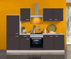 küchenblock faro 270 cm mit einbauspüle ohne elektrogeräte in anthrazit