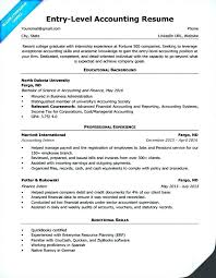 Cpa Resume Template Entry Level Accounting Sample Professional Singapore