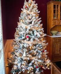 Alpine Estates Flocked Fir Tree Pre Lit Christmas Trees Set Of 3