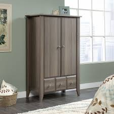 Sauder Shoal Creek Desk by Sauder Barrister Lane Armoire Salt Oak Hayneedle
