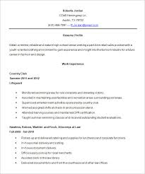 High School Resume Template Word Details File Format