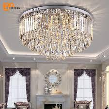luxus moderne decke kronleuchter wohnzimmer kristall lichter runde led laras de techo innen beleuchtung
