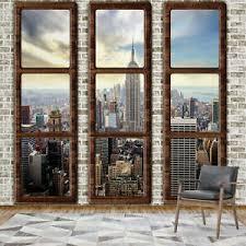 details zu design tapete fototapete für wohnzimmer amerika usa new york city fensterblick