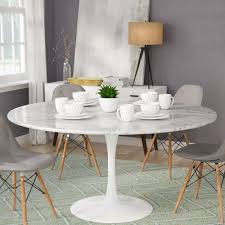 Scenic Carrara Marble Dining Table Round Exciting Faux Glass ...