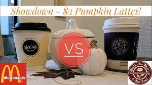 Dunkin Donuts Pumpkin Latte by 2 Pumpkin Latte Showdown Mcdonalds Vs The Coffee Bean Youtube