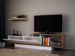 wohnwand weiss tv lowboard holz wohnzimmerschrank modern