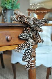 Pine Cone Christmas Tree Tutorial by Nine Sixteen Pinecone Garland Tutorial