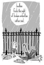 Cartoon Umbrella Medium By Birdbee Tagged Birdbeeumbrellarainfence