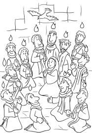 Click To See Printable Version Of Descent The Holy Spirit At Pentecost Coloring Page