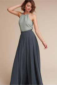 This Elegant Flowing Hampton Skirt Paired With The High Neck Chiffon Hunter Top From BHLDN Creates An Absolutely Gorgeous Bridesmaids Look