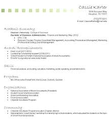 Resume Examples For College Graduates With No Experience Combined Sample Student