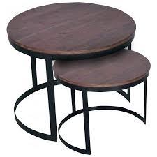 couchtisch 2er set beistelltisch wohnzimmer tisch rund metall gestell altsilber o schwarz braun bassano cas030060 000000 001820