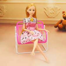 Mini Kid Girl Barbie Doll Furniture Chair Toy Accessories Living
