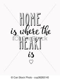 Home Is Where The Heart Vector Lettering