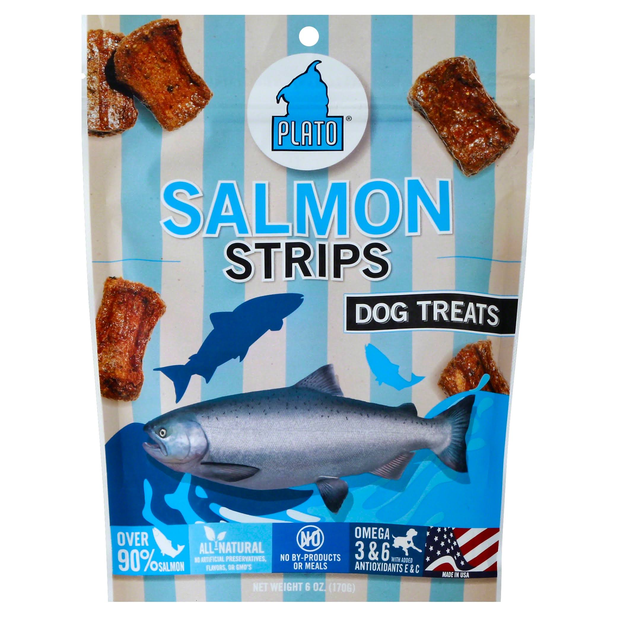 Plato Dog Treats - Salmon Strips